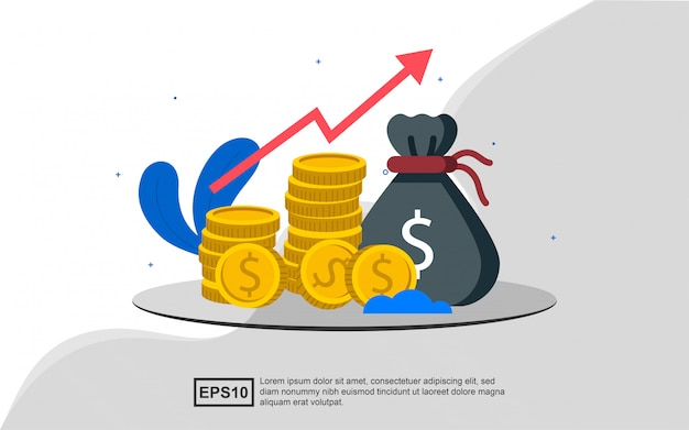 Financial investment illustration concept.