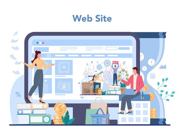 Financial investment online service or platform