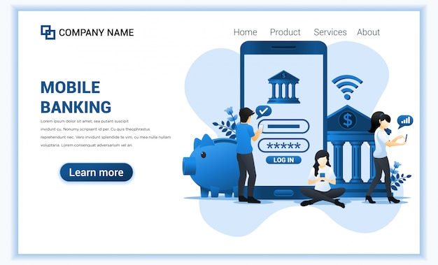 Financial landing page template