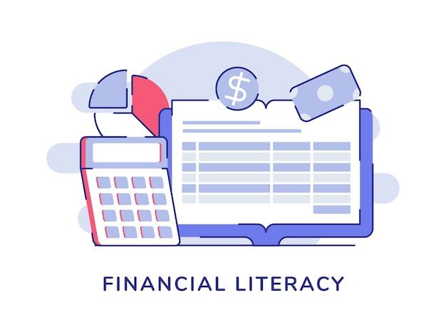 Экономические данные концепции финансовой грамотности на экране компьютера