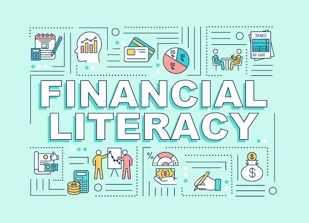 Финансовая грамотность слово концепции баннер