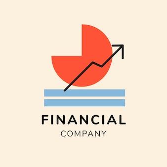 Financial logo, business template for branding design vector
