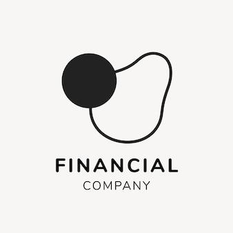 財務ロゴ、ブランディングデザインベクトルのビジネステンプレート