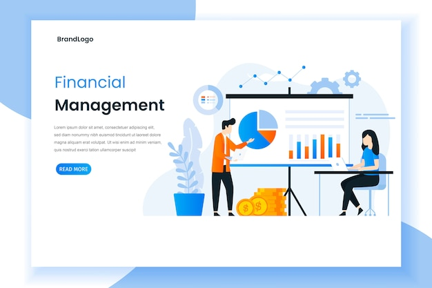 Financial management landing page illustration concept