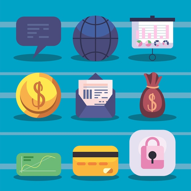 재무 관리 온라인 아이콘