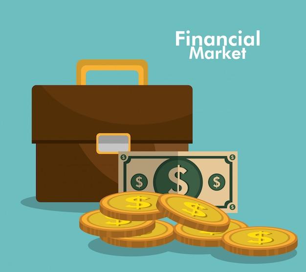 Grafica del mercato finanziario