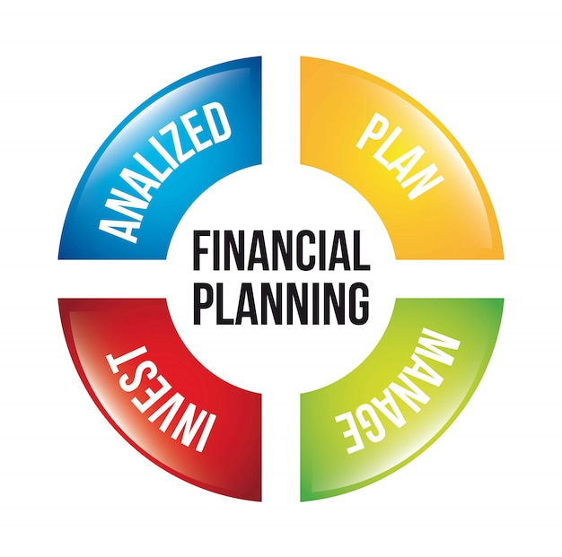 Financial planning illustration over white background vector