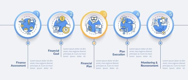 Шаблон инфографики финансового планирования