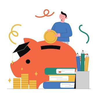재정 계획, 투자, 교육.