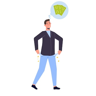 Financial problem, burnout, collapse, business concept. vector isolated illustration.