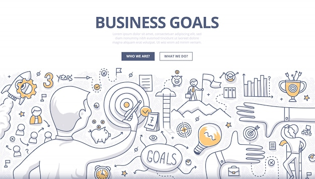 Financial report doodle concept