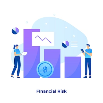 Концепция иллюстрации финансового риска.