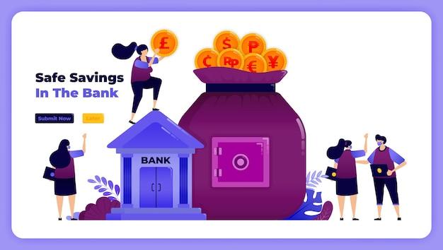 투자 및 저축을위한 금융 보안 및 은행 보호.