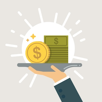 Financial services illustration. Premium Vector