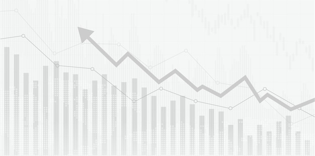 Financial stock market graph on stock market investment trading bullish point bearish point