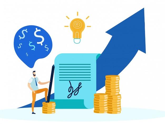 Financial success strategy metaphor illustration