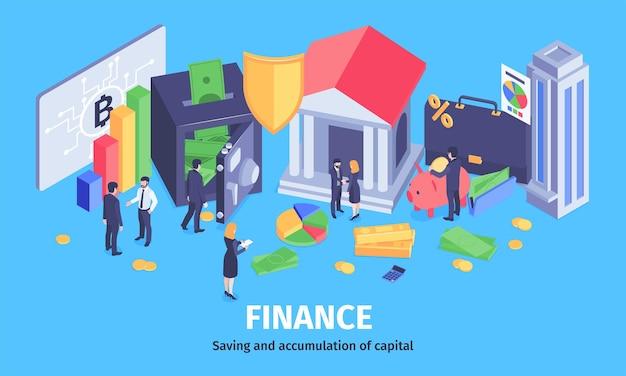 安全で収益性の高い投資分析アドバイザーの電子財布を節約することで経済的な成功の富の蓄積等角組成