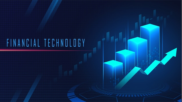 Financial technology graphic concept background