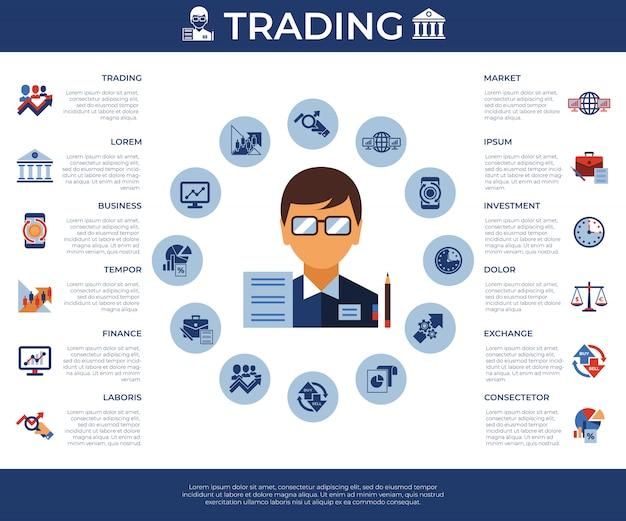 금융 거래 및 시장 아이콘 모음
