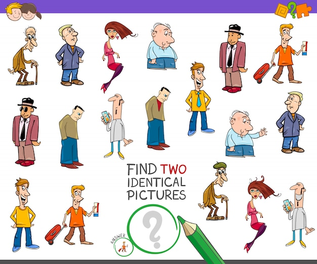 Find 2 identical pictures educational game for kids