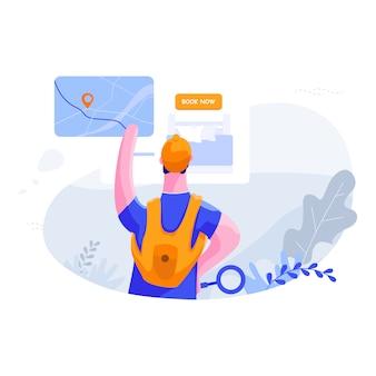Find best deal - travel flat illustration concept