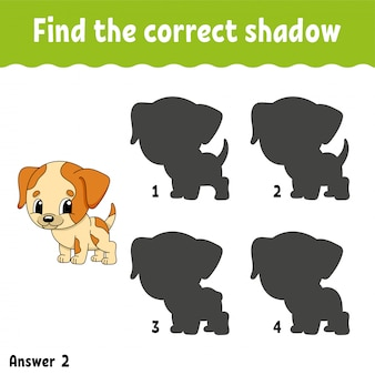 Find the correct shadow. draw a line. education developing worksheet.
