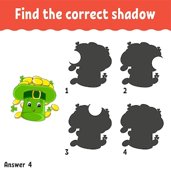 Find the correct shadow education worksheet