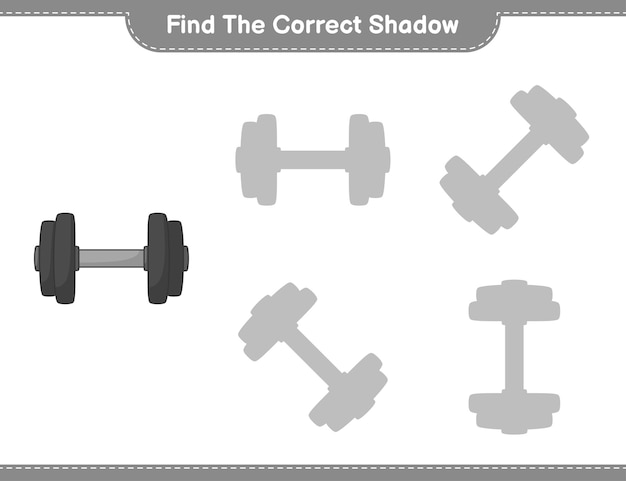 Find the correct shadow educational children game