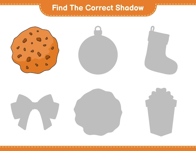 Find the correct shadow find and match the correct shadow of cookie educational children game