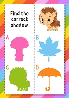 Find the correct shadow illustration