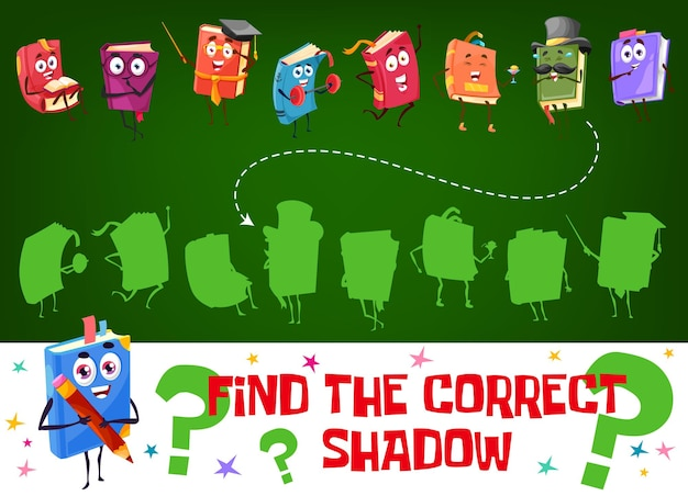 Find a correct shadow kids game vector worksheet