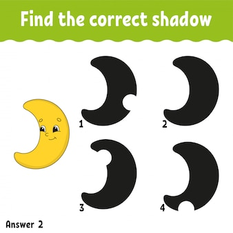 Find the correct shadow.