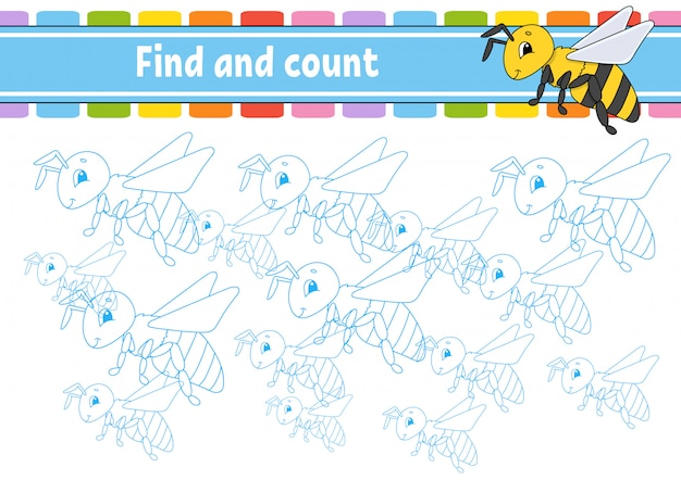 Find and count. education developing worksheet. activity page with pictures.