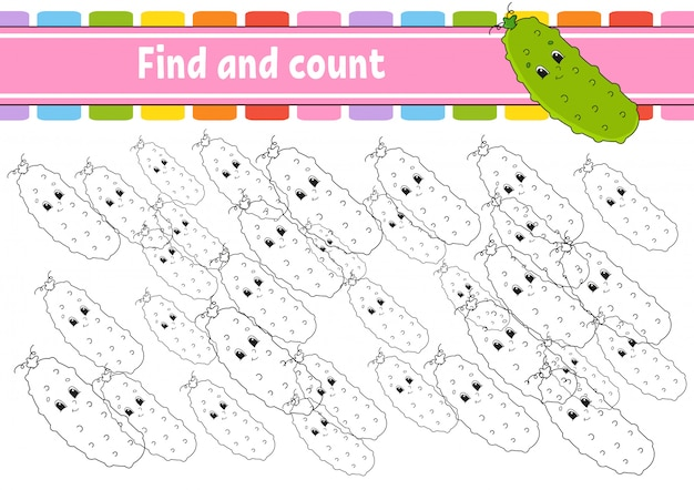 Find and count.