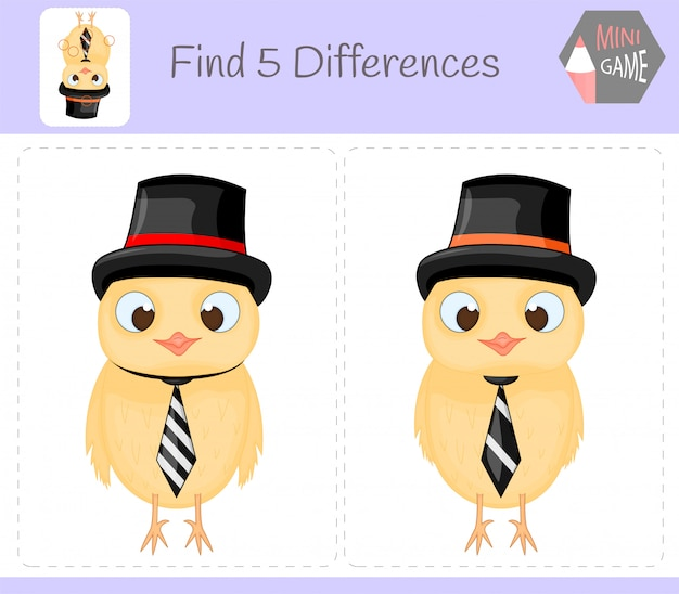 Find differences, education game for children.