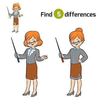 차이점 찾기, 어린이 교육 게임, 교사