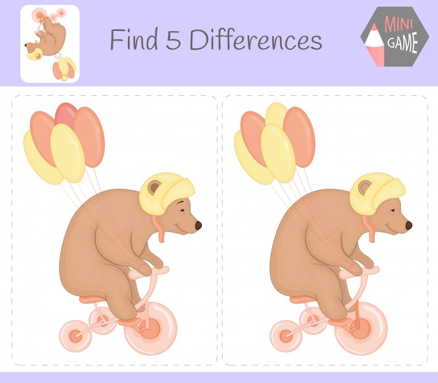 Find differences education game