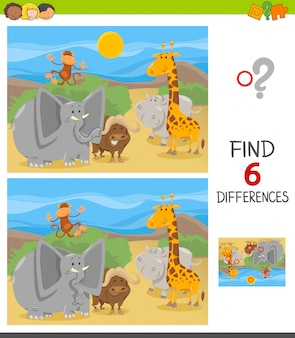 Find differences educational game for children
