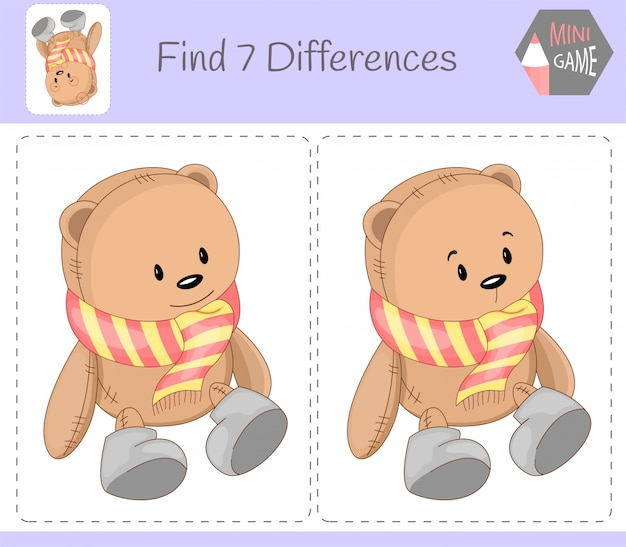 Find differences educational game