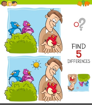 Find differences game for children