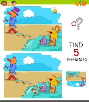Find differences game for kids