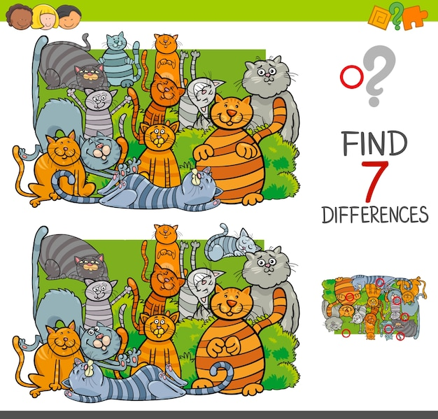 猫の動物キャラクターとの違いを見つける