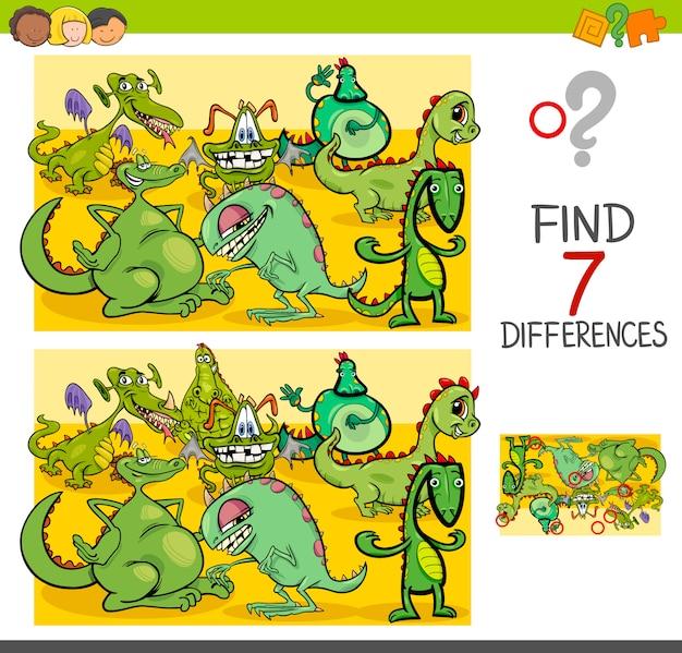 ドラゴンファンタジーキャラクターとの違いを見つける