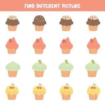 Найди другую картинку. симпатичные вкусные кексы.