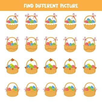 Найдите разные изображения пасхальных корзин