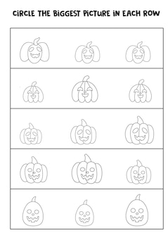 Find the halloween pumpkin picture in each row.