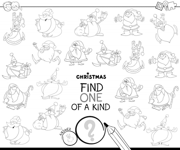 Find one of a kind santa claus color book