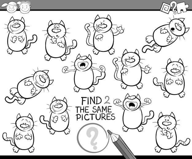 Find same pictures game cartoon