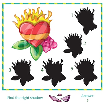 Find the shadow of picture - vector heart