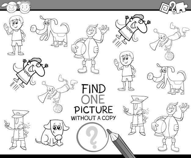 Find single picture task for kids
